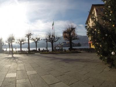 View of St Julian Island Lago D'Orta SwimQuest