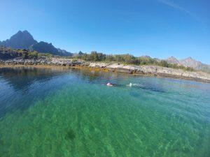 Lofoten, green water
