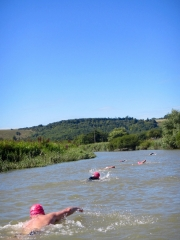 SwimQuest swimmers on the River Arun