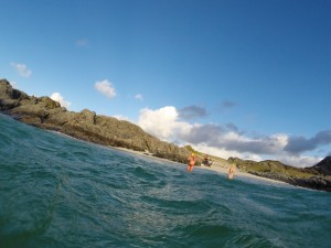 Winter swimming on the Rhu Peninsula