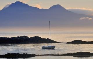 Sunset over Camas Rubha a Mhurain - Scottish Swimming SwimQuest