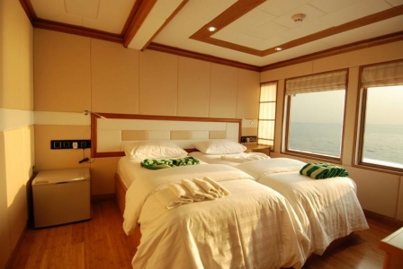 A twin room on MV Virgo (image courtesy of Emperor Maldives)