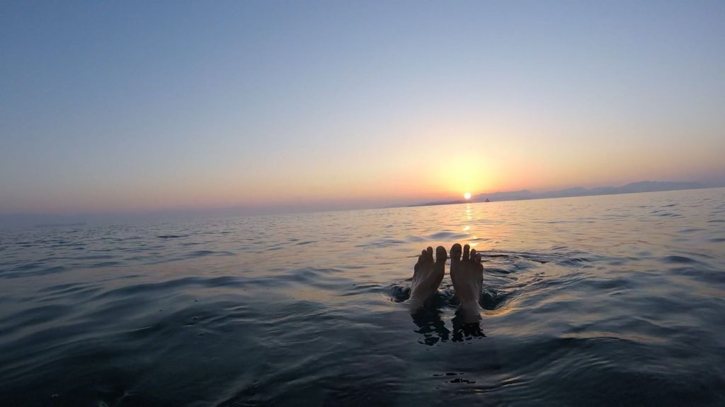 Sunrise swimming SwimQuest Holidays