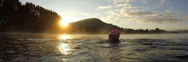 Sunrise swim Lago Dorta