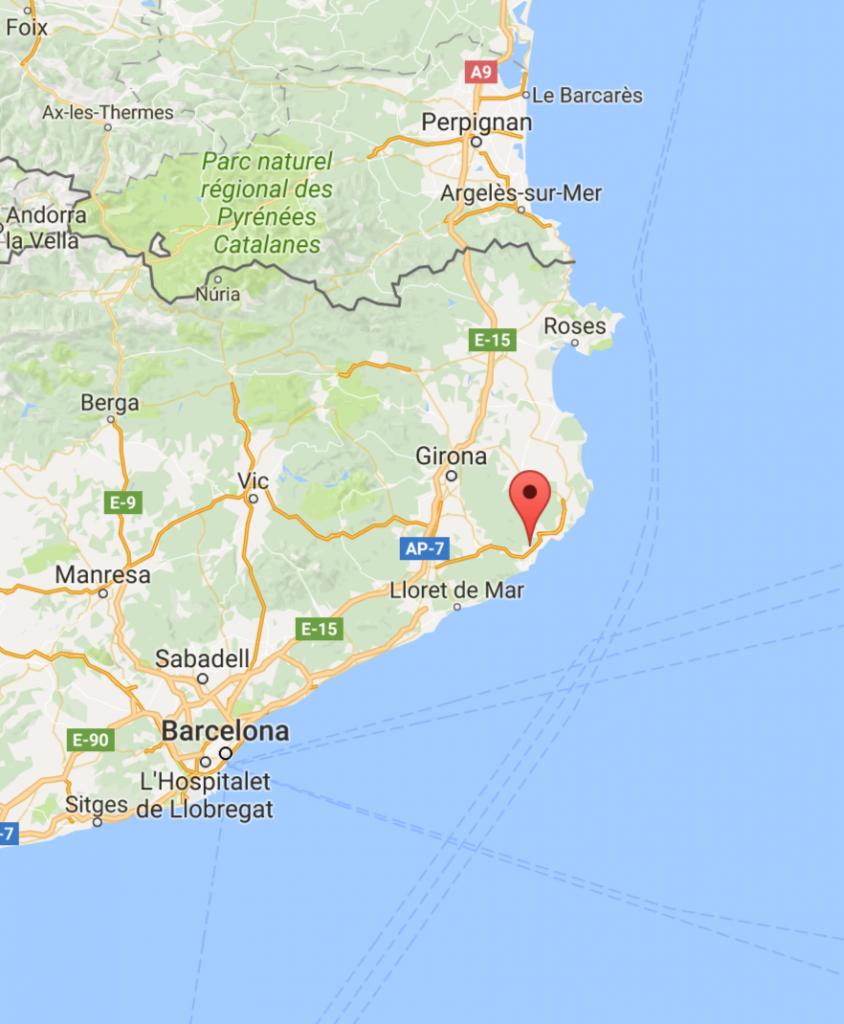 Map Platja D'Aro