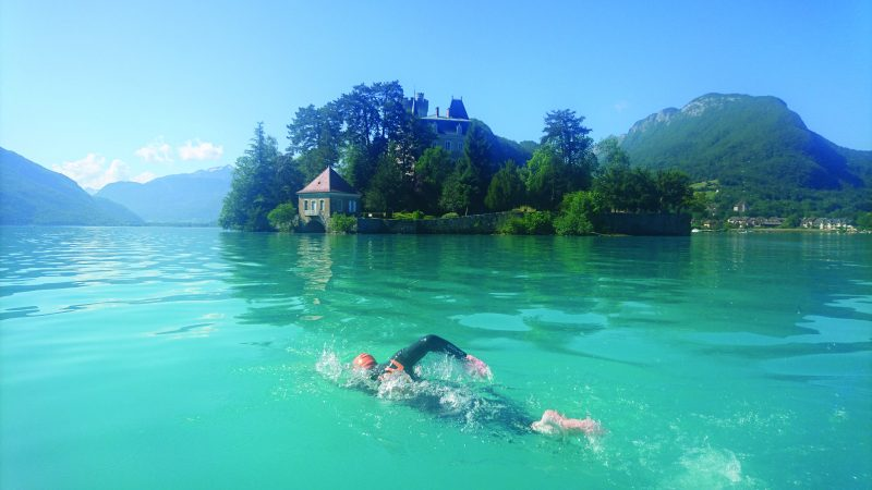 Swim the iconic 15km length of Lake Annecy with full boat support