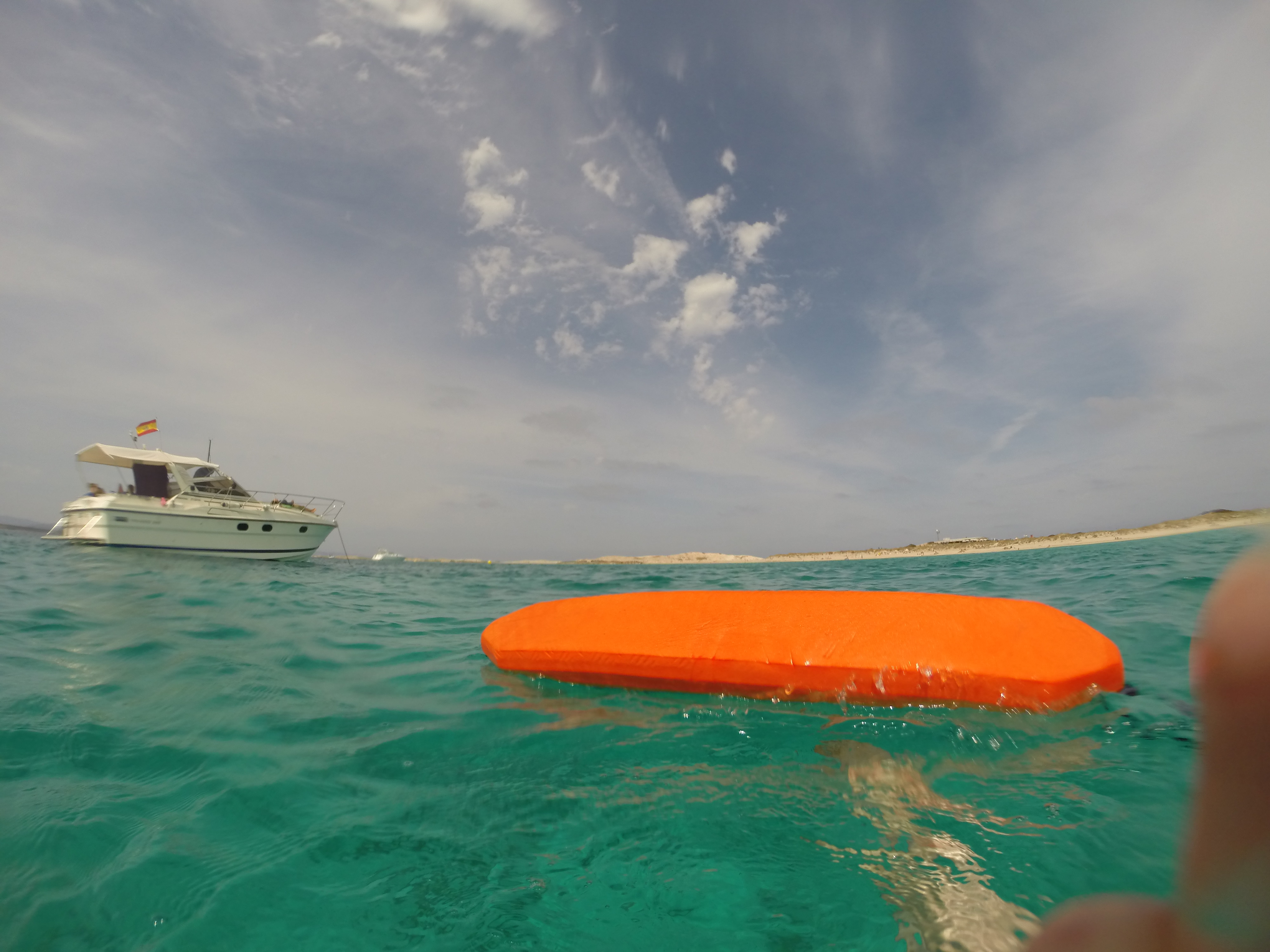 SwimQuest guide with torpedo buoy