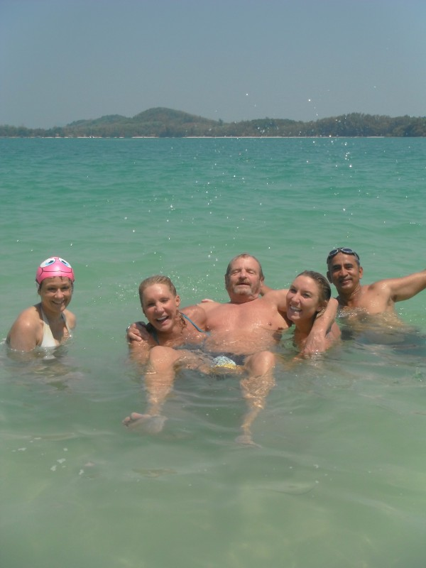 SwimQuest guests having fun in Thailand