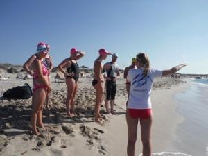 Formentera pre swim briefing