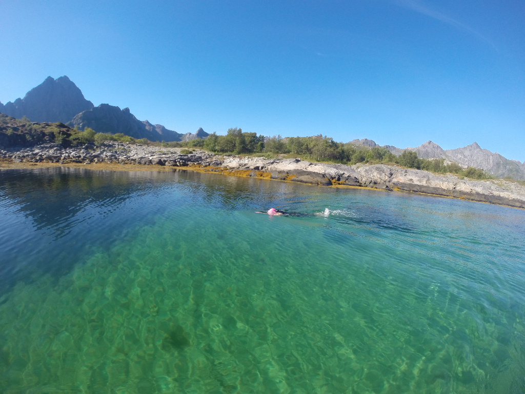 Lofoten, green water