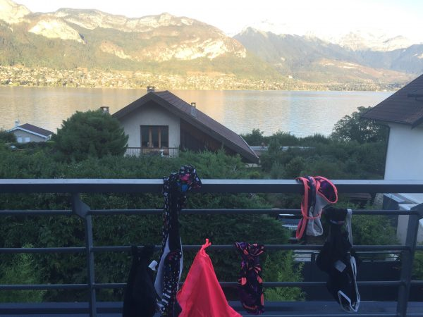 Swimming costumes Lake Annecy