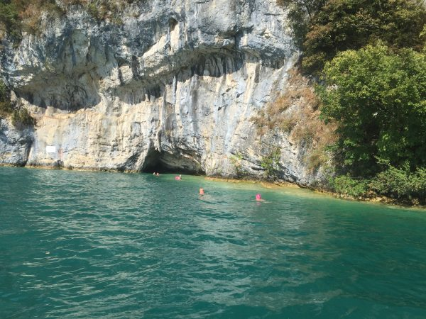 SwimQuest Lake Annecy caves