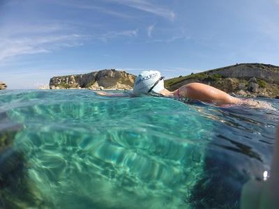 SwimQuest cap - light blue