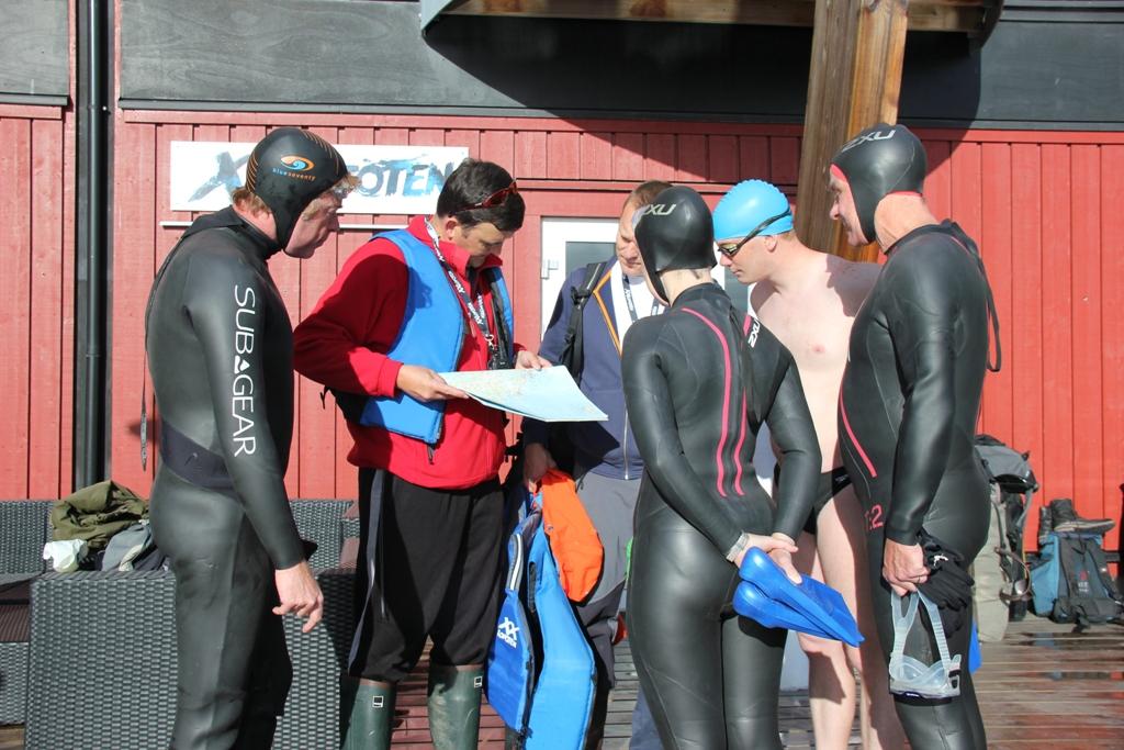 A group briefing in Lofoten