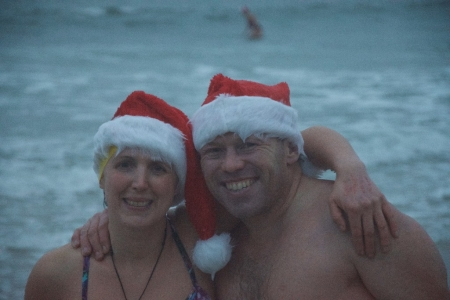 Christmas swimmers