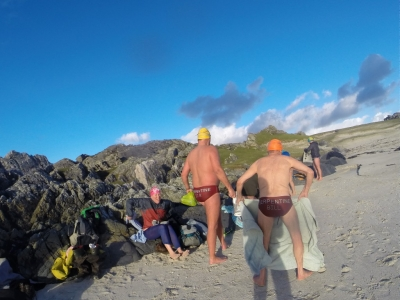 Winter swimming Scotland - Arisaig with SwimQuest