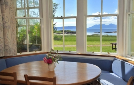 Breakfast view at Traigh House SwimQuest Scotland Swimming Holidays