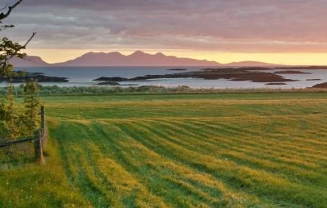 Sunset over Rum and Egg SwimQuest Swimming Holidays Scotland