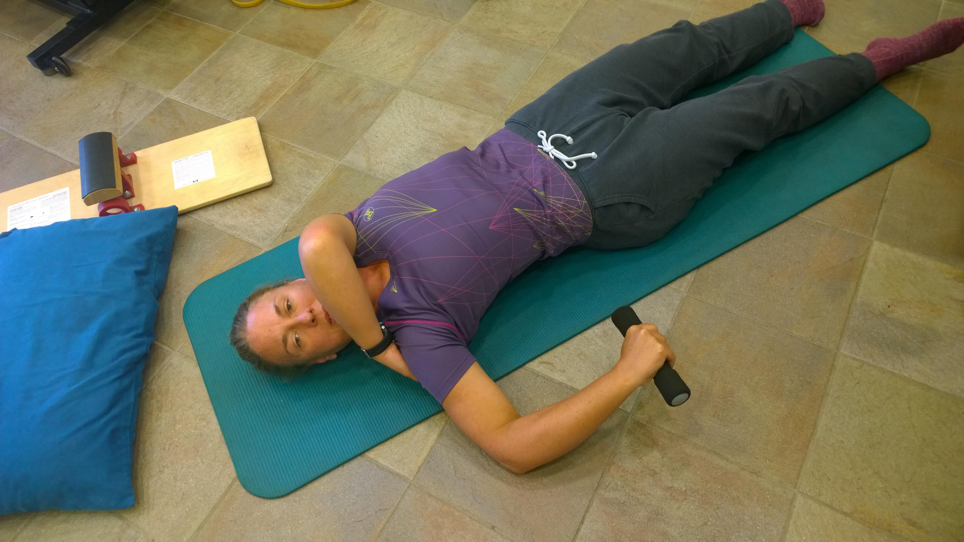 Rachel Hill A2A stretching