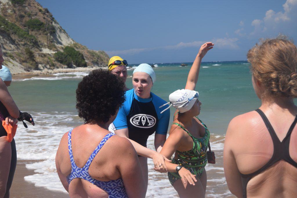 Cassie Patten teaching swimming