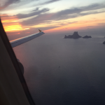 Flying into Ibiza SwimQuest