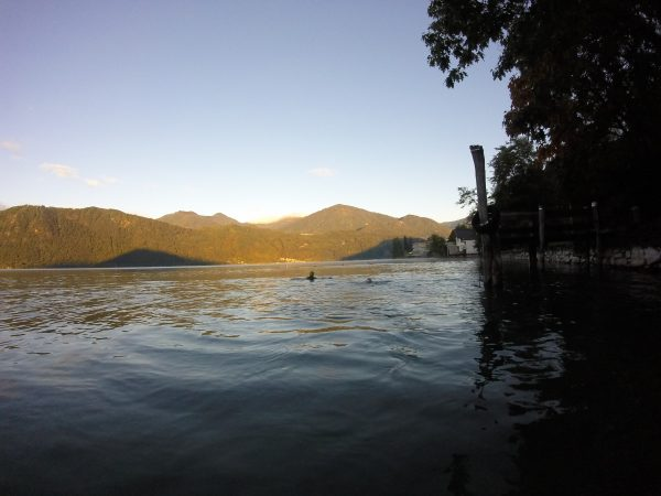 Lago D'Orta Swimming with a mountain view