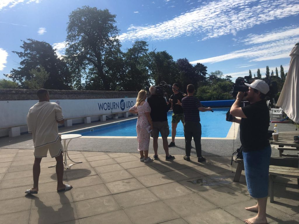 Greg Rutherford Sink or Swim Woburn Lido